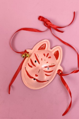 Kitsune Mini Ceramic Mask -...