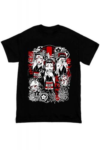 3 GEISHAS 芸者 T-Shirt