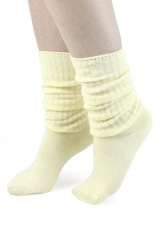 Pastel Yellow Loose Socks ~...