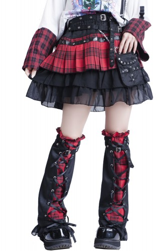 Punk Girl Skirt with Leg...