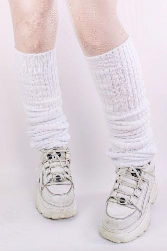 White Loose Socks 90cm
