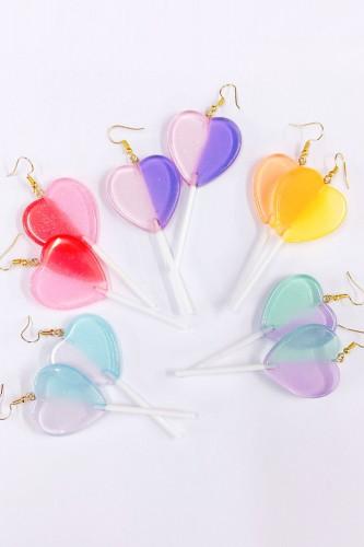 Heart Lollipop ♡ Earrings -...