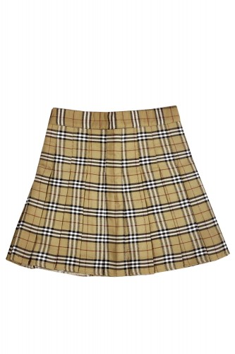 Tartan Pleated Skirt CAPUCCINO