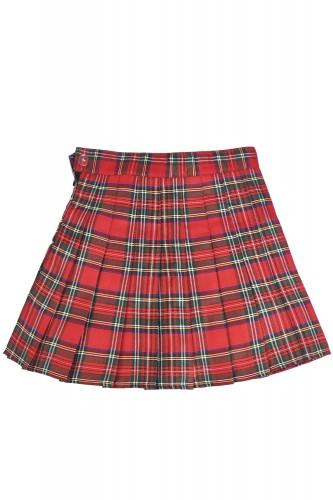 Tartan Pleated Skirt PUNK RED