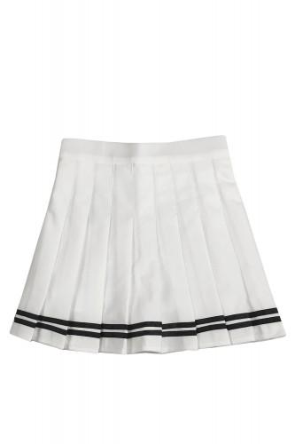 Pleated Skirt SAILOR WHITE