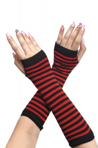 Armwarmers - Black x Red