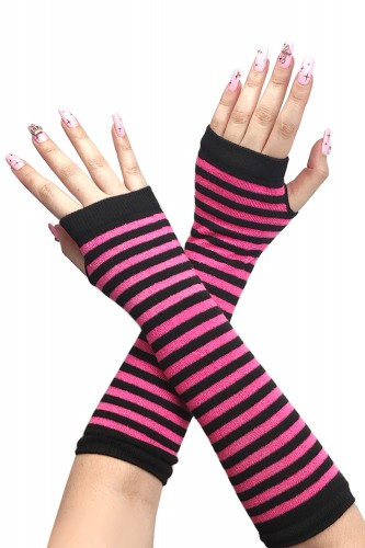 Armwarmers - Black x Hot Pink