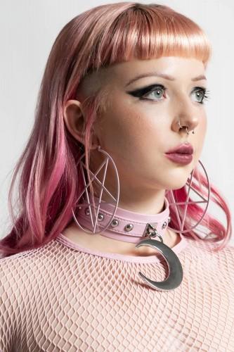 Pentagram Big Hoop Earrings...