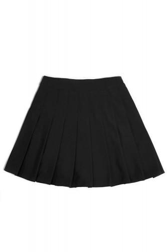 Elastic Pleated Skirt SOLID...
