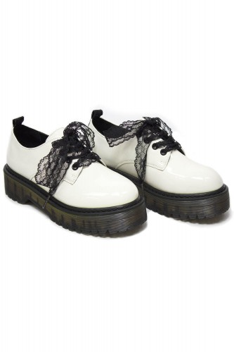 Grunge Lace Shoes - White...