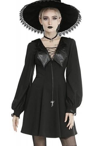 Bat Collar Dress - Dark in...