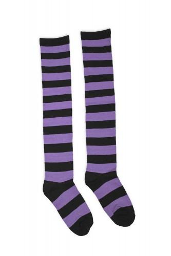 Striped Long Socks - Black...